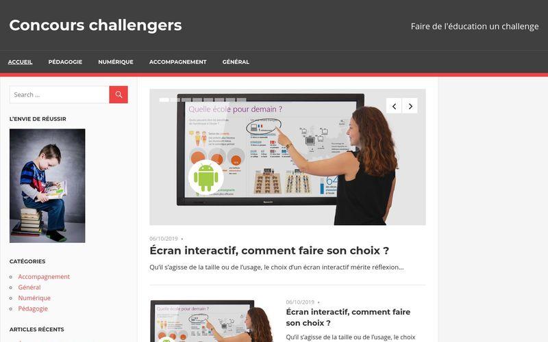 Concours challengers - Faire de l'éducation un challenge