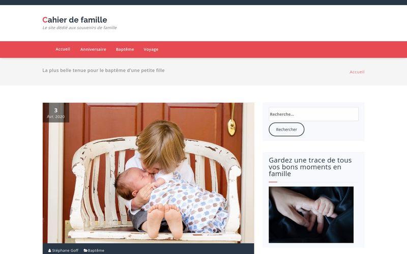 Cahier de famille - Le site dédié aux souvenirs de famille