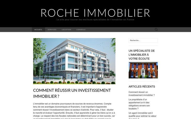 Roche immobilier - Le site pour trouver les meilleurs spécialistes de l'immobilier en France