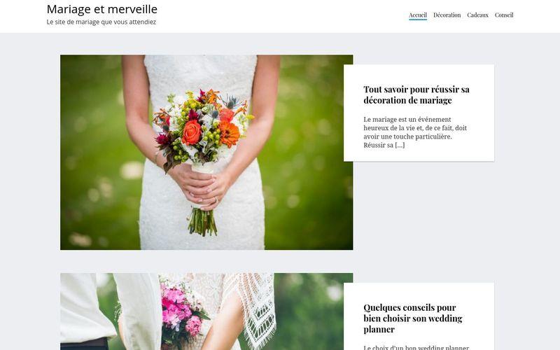 Mariage et merveille - Le site de mariage que vous attendiez