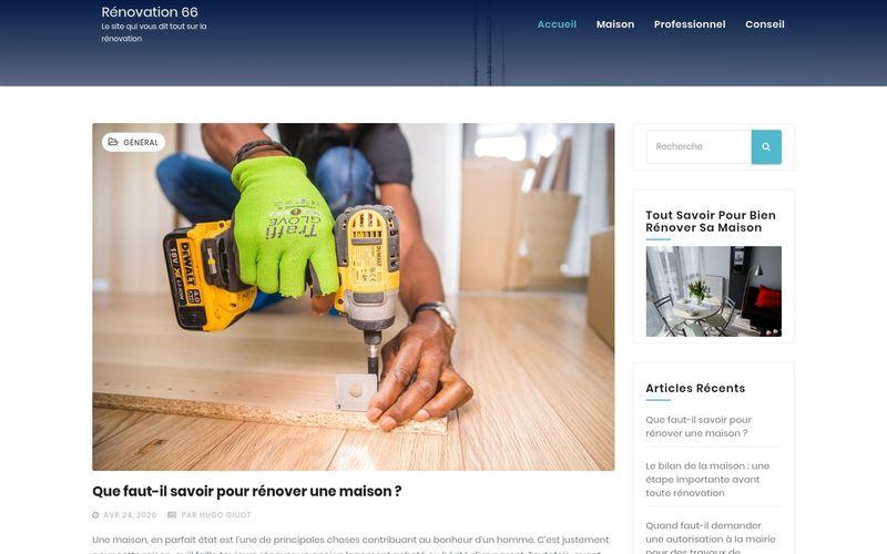Rénovation 66 - Le site qui vous dit tout sur la rénovation