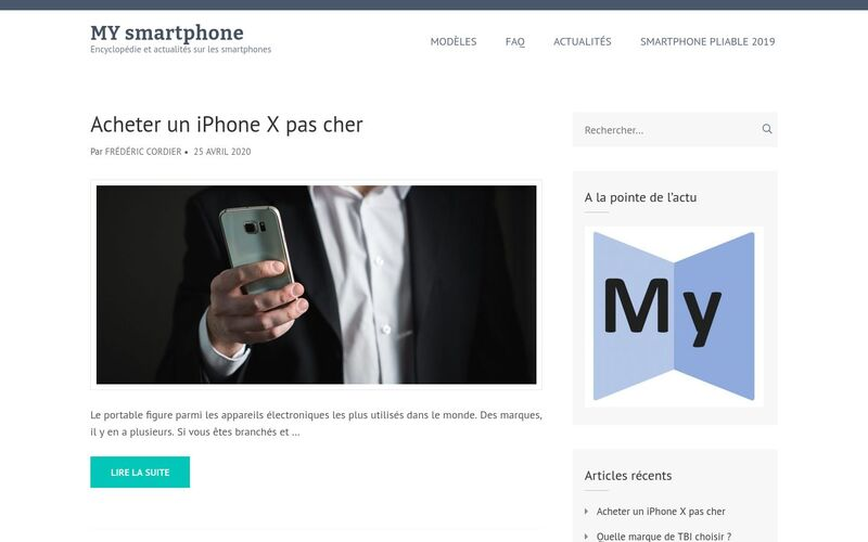 MY smartphone - Encyclopédie et actualités sur les smartphones