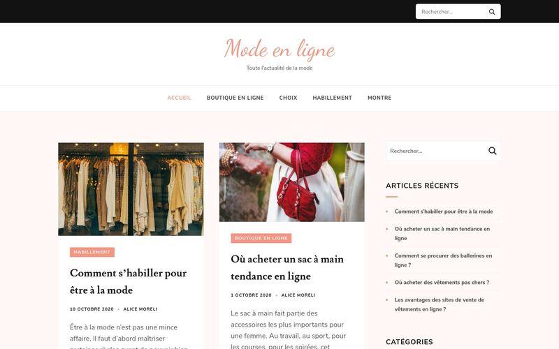 Mode en ligne - Les meilleurs plans mode en ligne
