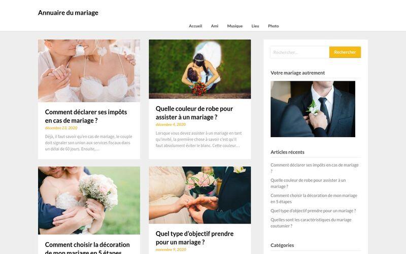 Annuaire du mariage - Infos sur le mariage